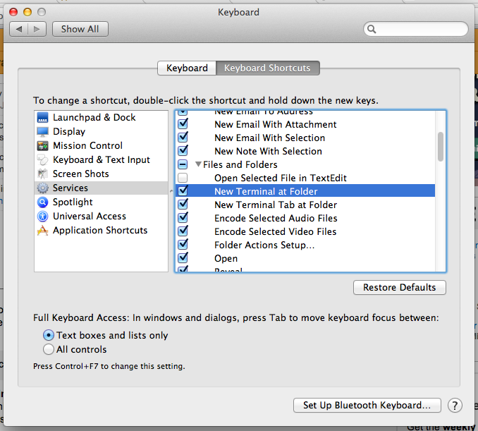 OSX Tip: Open Terminal Here at Folder | The Rubyist Journal