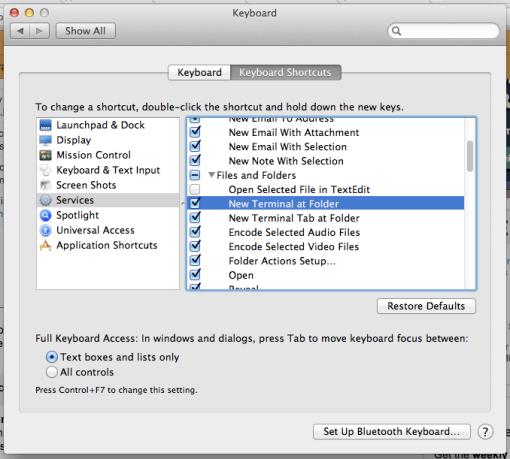 Open Terminal at Folder